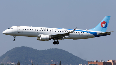 A picture of B3187 - Embraer E190LR - Hebei Airlines - © XPHNGB