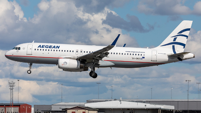 A picture of SXDND - Airbus A320232 - Aegean Airlines - © Stefan Kronqvist
