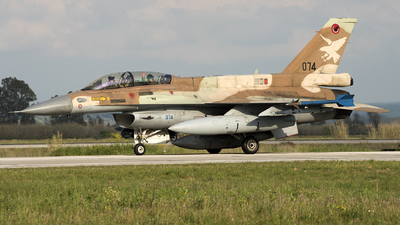 074 - General Dynamics F-16D Barak - Israel - Air Force