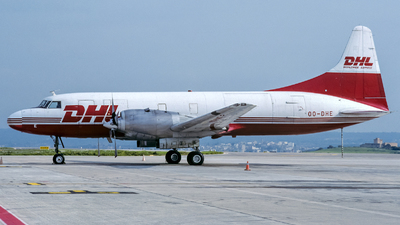OO-DHE - Convair CV-580(F) - DHL (European Air Transport)