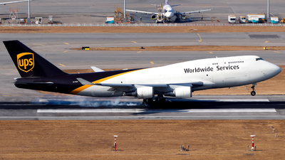 A picture of N578UP - Boeing 74745E(BCF) - UPS Airlines - © Lewis Edward Latham