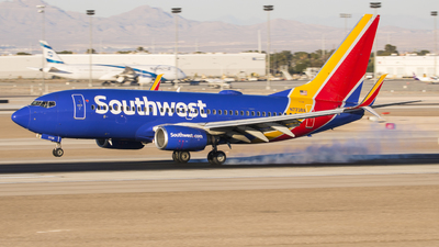 A picture of N7738A - Boeing 7377BD - Southwest Airlines - © David Lee