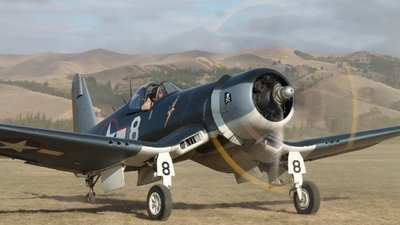 ZK-COR - Goodyear FG-1D Corsair - Private