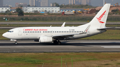A picture of B7088 - Boeing 7377ME - Ruili Airlines - © YIJING HOU