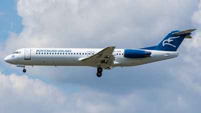 A picture of 4OAOM - Fokker 100 - Montenegro Airlines - © Michael Baumert