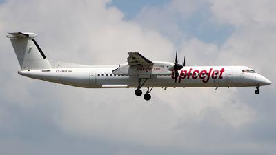 A picture of VTSUY - De Havilland Canada Dash 8400 - SpiceJet - © Aneesh Bapaye