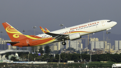 A picture of B5480 - Boeing 73786N - Hainan Airlines - © RuiQi Liang