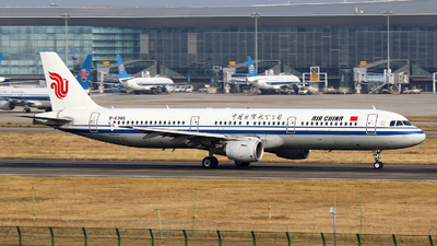 A picture of B6386 - Airbus A321213 - Air China - © Zihao Wang ~ AHaoo