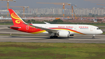 A picture of B2750 - Boeing 7878 Dreamliner - Hainan Airlines - © YIJING HOU