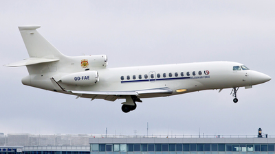 OO-FAE - Dassault Falcon 7X - Belgium - Air Force (Luxaviation)