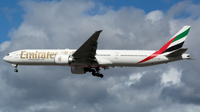 A picture of A6EBR - Boeing 77731H(ER) - Emirates - © Chris Pitchacaren