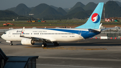A picture of B5660 - Boeing 73785C - Hebei Airlines - © LingFeng