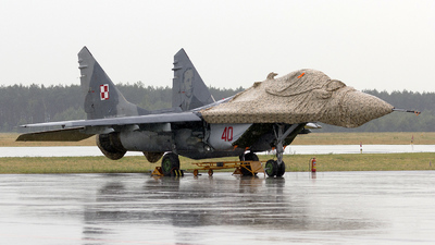 40 - Mikoyan-Gurevich MiG-29A Fulcrum - Poland - Air Force