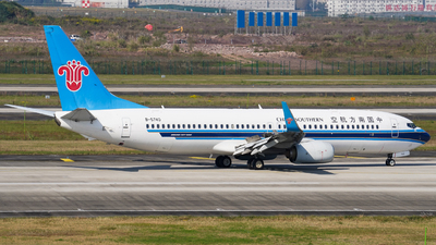 A picture of B5740 - Boeing 73781B - China Southern Airlines - © ZUCKGYQ