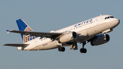 A picture of N822UA - Airbus A319131 - United Airlines - © Positive Rate Photography