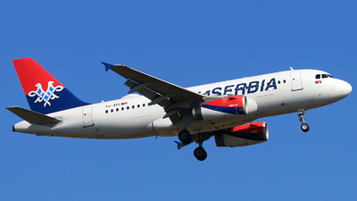 A picture of YUAPI - Airbus A319132 - AirSERBIA - © Alpha SiX