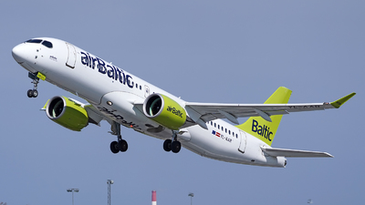 A picture of YLAAR - Airbus A220300 - Air Baltic - © Andrey Nesvetaev
