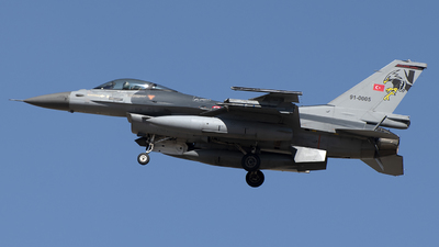 91-0005 - General Dynamics F-16C Fighting Falcon - Turkey - Air Force