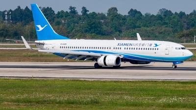 A picture of B6485 - Boeing 73785C - Xiamen Air - © SunnyZUUU