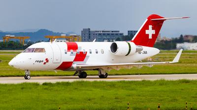 A picture of HBJWA - Bombardier Challenger 650 - Swiss AirAmbulance - © Zongzha_Kaiguan