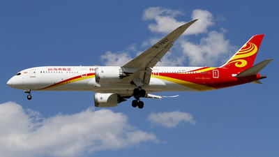 A picture of B7837 - Boeing 7879 Dreamliner - Hainan Airlines - © wangpaul
