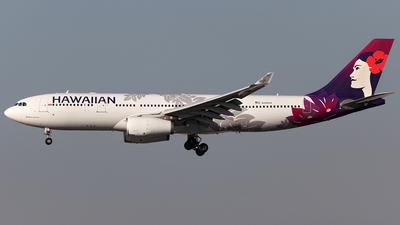 A picture of N395HA - Airbus A330243 - Hawaiian Airlines - © TOMBARELLI FEDERICO