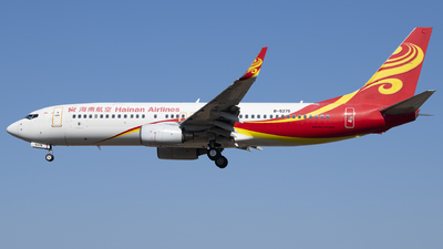 A picture of B5375 - Boeing 73784P - Hainan Airlines - © Tom Cheng