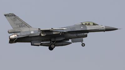 6647 - General Dynamics F-16A Fighting Falcon - Taiwan - Air Force