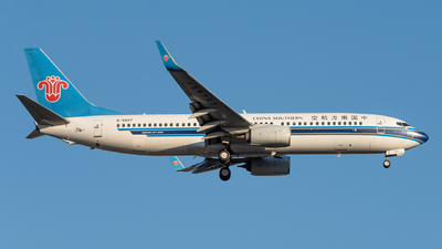 A picture of B5837 - Boeing 73781B - China Southern Airlines - © xuhaoqing995