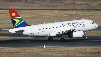 ZS-SFD - Airbus A319-131 - South African Airways