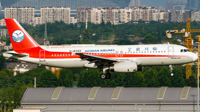 A picture of B6322 - Airbus A320232 - Sichuan Airlines - © Miaomiao