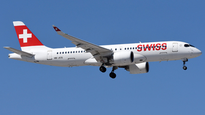 A picture of HBJCG - Airbus A220300 - Swiss - © Mehrad Watson - AirTeamImages