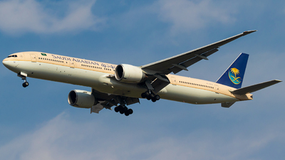 A picture of HZAK12 - Boeing 777368(ER) - Saudia - © Hassaan Ali Khan