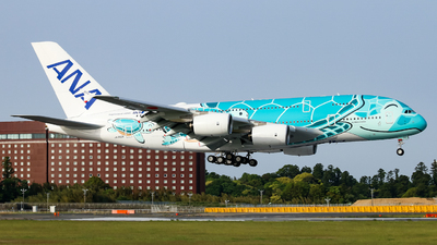 A picture of JA382A - Airbus A380841 - All Nippon Airways - © O.Yudai