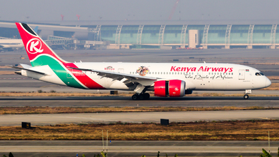 A picture of 5YKZG - Boeing 7878 Dreamliner - Kenya Airways - © Jackson Zheng