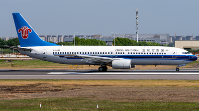 A picture of B2693 - Boeing 73781B - China Southern Airlines - © Deutsch lighting II