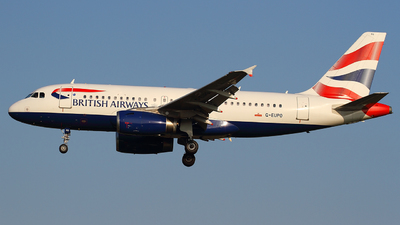 G-EUPO - Airbus A319-131 - British Airways
