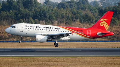 A picture of B6196 - Airbus A319115 - Shenzhen Airlines - © ECO707