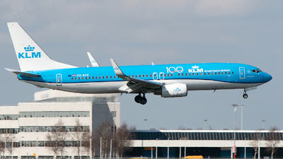 A picture of PHBXE - Boeing 7378K2 - KLM - © Freek Blokzijl