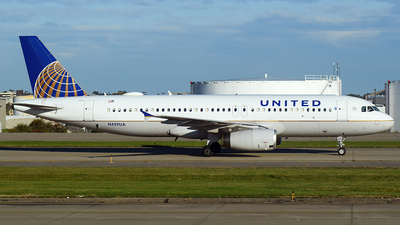 A picture of N459UA - Airbus A320232 - United Airlines - © Evan Dougherty