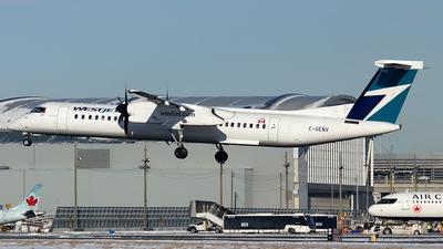 A picture of CGENV - De Havilland Canada Dash 8400 - WestJet - © Tianyi Liu