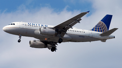 A picture of N827UA - Airbus A319131 - United Airlines - © Mingfei S
