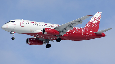 A picture of RA89132 - Sukhoi Superjet 10095B - Rossiya - © SN7756