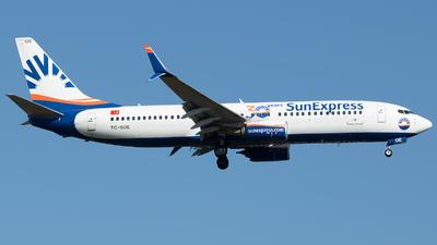 A picture of TCSOE - Boeing 7378HC - SunExpress - © Stefan Bayer