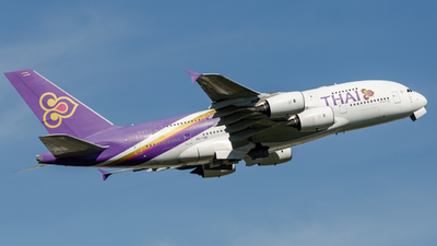 A picture of HSTUB - Airbus A380841 - Thai Airways - © Leo Sheng