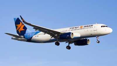 A picture of 4XABI - Airbus A320232 - Israir Airlines - © Ervin Eslami (uk.jets)