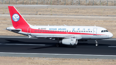 A picture of B6043 - Airbus A319133 - Sichuan Airlines - © ShirokaneRinko