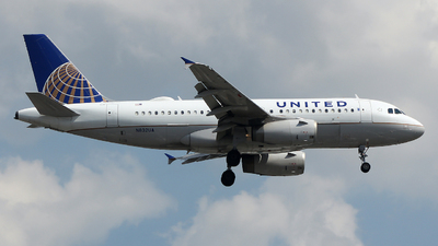 A picture of N832UA - Airbus A319131 - United Airlines - © Xiamen Air 849 Heavy