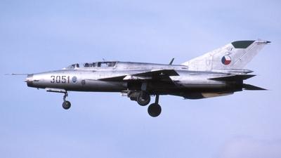 3051 - Mikoyan-Gurevich MiG-21UM Mongol B - Czechoslovakia - Air Force