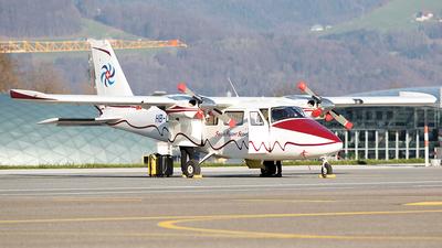 A picture of HBLUZ - Partenavia P68C - Swiss Flight Services - © Markus Buttinger